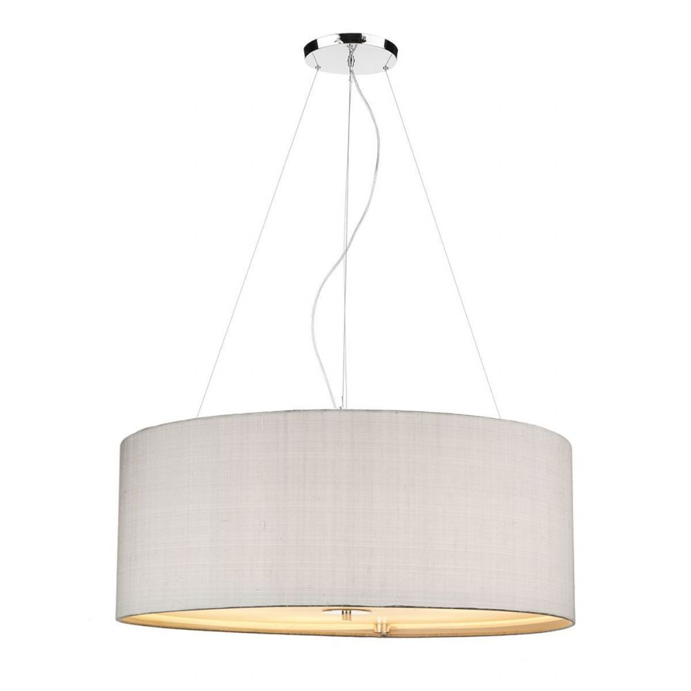 Renoir 90CM 6 Light Pendant with Silk Shade (Choose colour) REN06 (Hand made, 10-14 day Del)